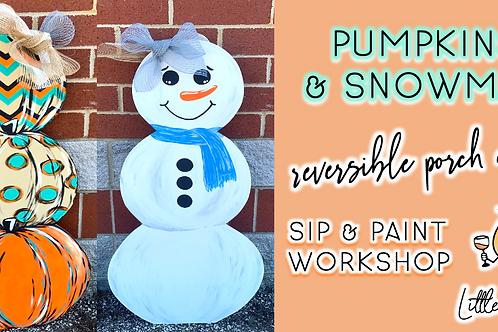 Reversible Porch Decor | Pumpkin/Snowman (9/18 @ 4pm)