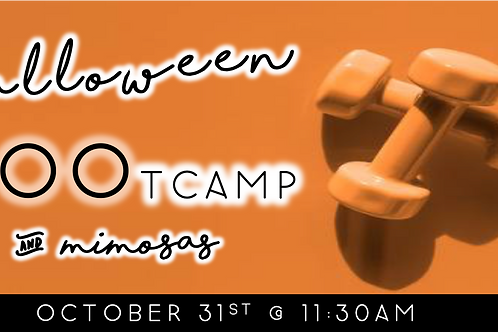 Halloween BOOtcamp & Mimosas (10/31 @ 11:30am)