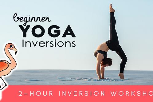 Beginner's Yoga Inversion Workshop (9/26 @ 12:15pm)