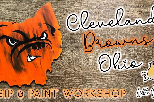 Cleveland Browns Ohio Sip & Paint Workshop (11/5 @ 6pm)