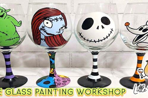 Nightmare Before Christmas Wine Glass Sip & Paint Workshop (10/21 @ 6pm)