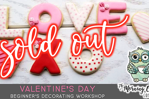 SOLD OUT: Valentine's Cookie Decorating Workshop (2/13 @ 10am)