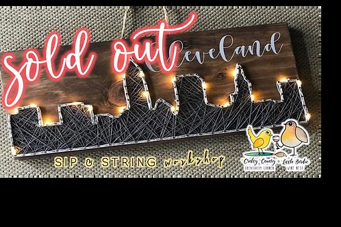 SOLD OUT: Cleveland Skyline Sip & String Workshop (1/23 @ 1pm)