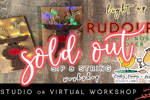 SOLD OUT: Light Up Rudolph Sip & String Workshop (11/30 @ 6pm)