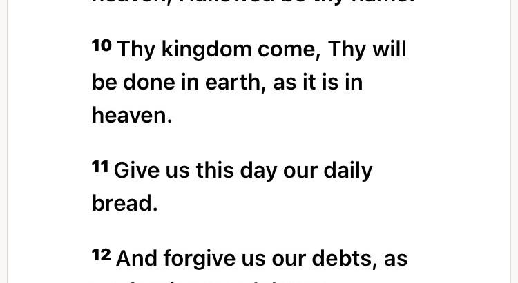 Jesus Taught Us To Pray:
