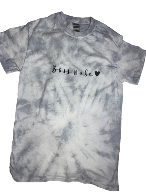 Boss Babe Tie dyed shirt