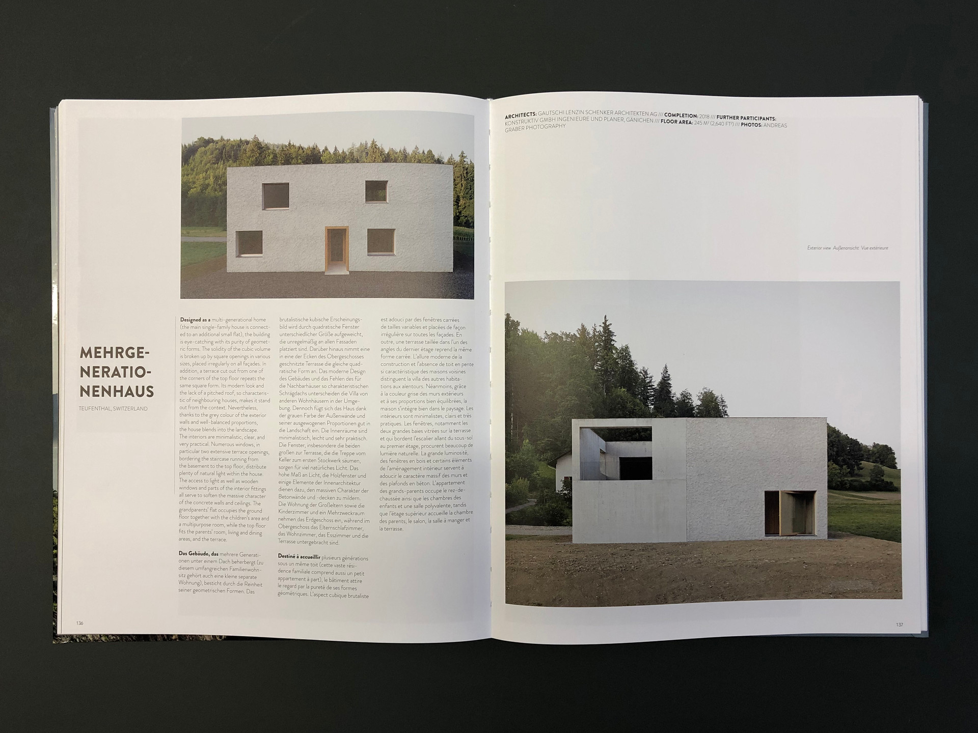 "Buchpublikation ""Villa Design"" - Braun 2020"