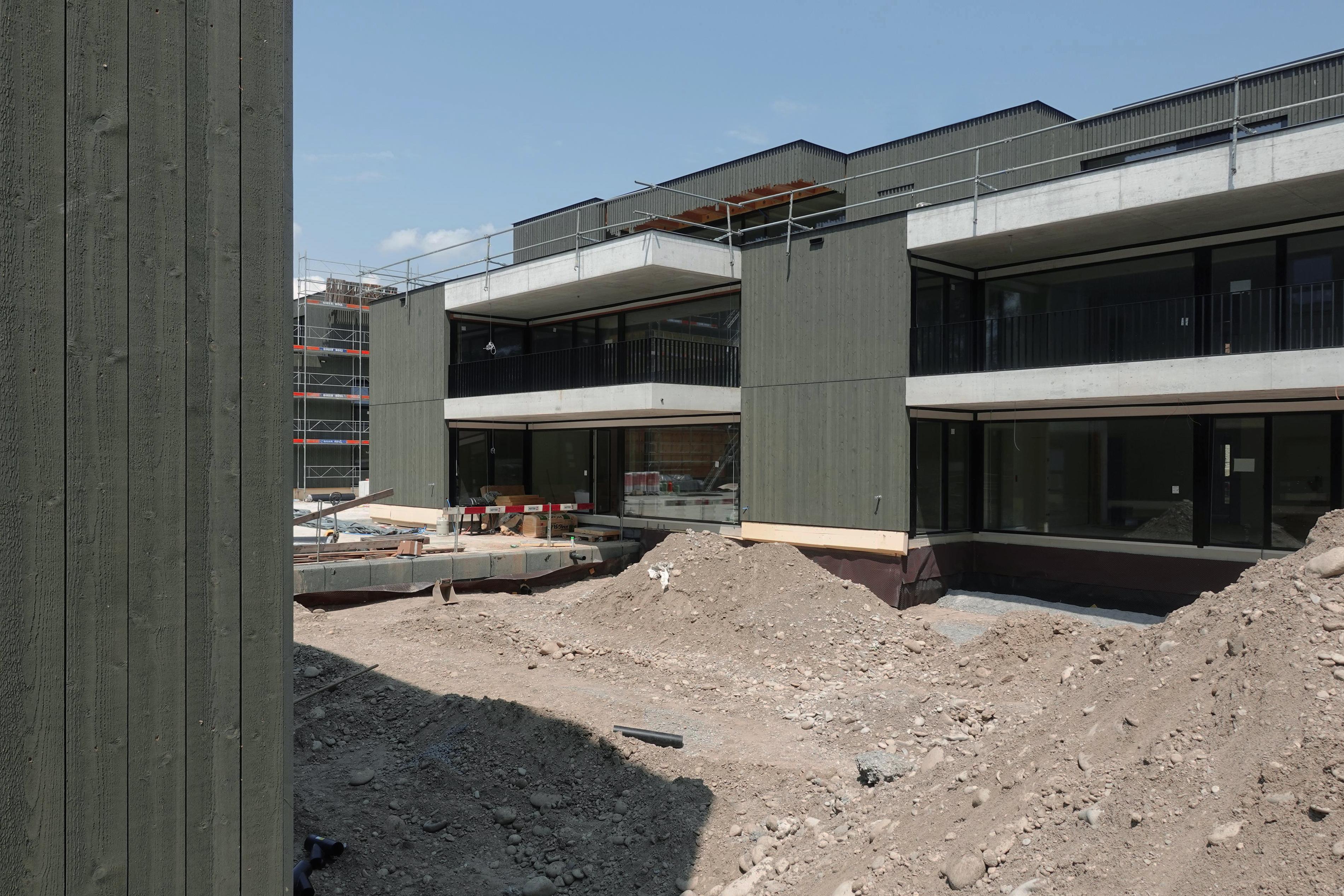 Aareblick, Niedergösgen - Fertigstellung Fassadenbau