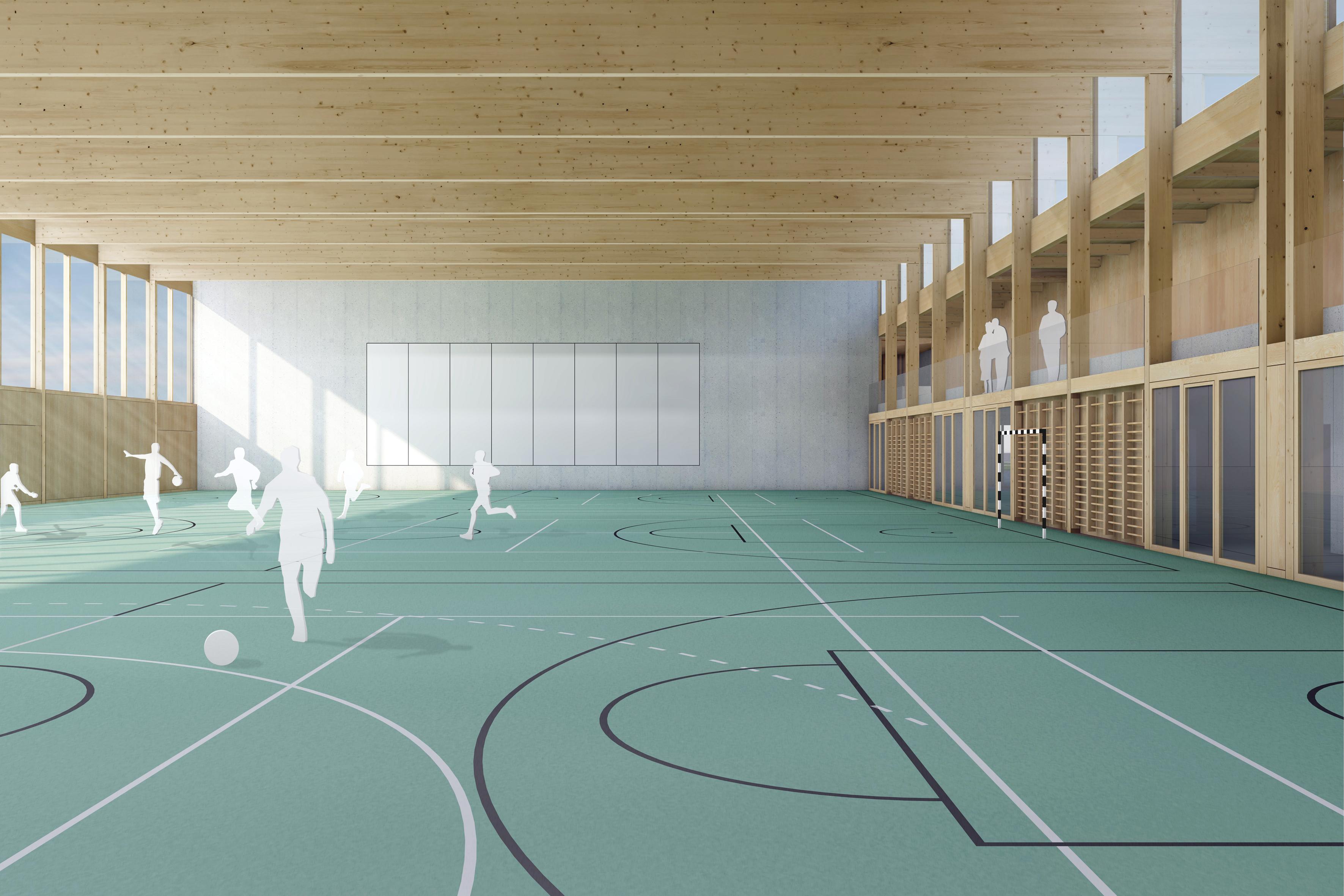 Mehrzweckhalle, Hitzkirch - Projektwettbewerb, 2. Rang (Hochparterre Wettbewerbe 02/2020)