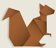 Ecureuil origami