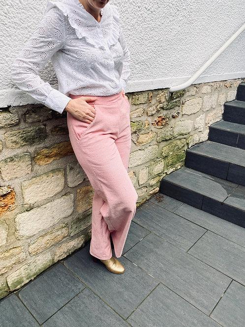 """Kit """"Mon Pantalon Presidio"""" Velours Rose Pâle"""