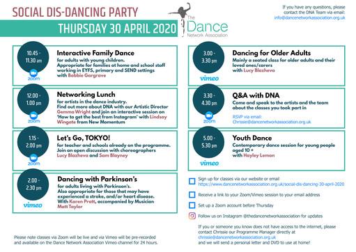 Invitation: DNA Digital dance class sche
