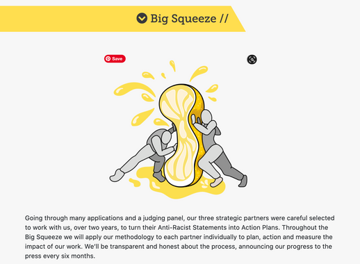 Big Squeeze illustration for Sour Lemons