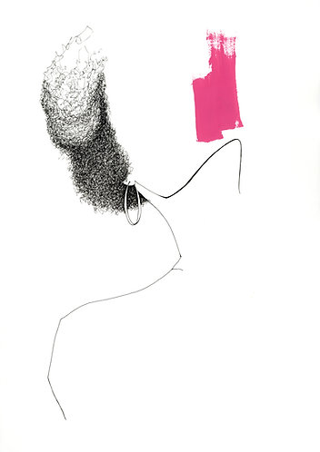 Girl with a Hoop earring - Pink