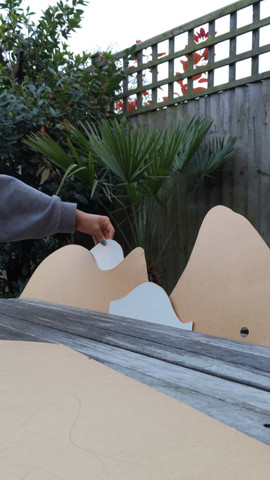 Carving wooden shapes