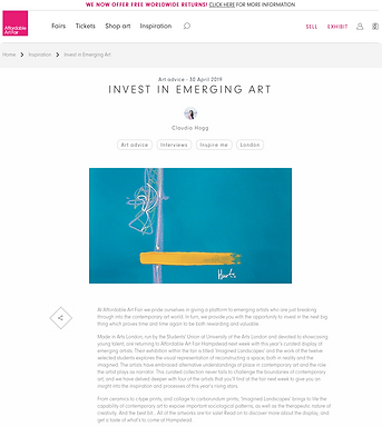 Invest in Emerging Art, Affordable Art F
