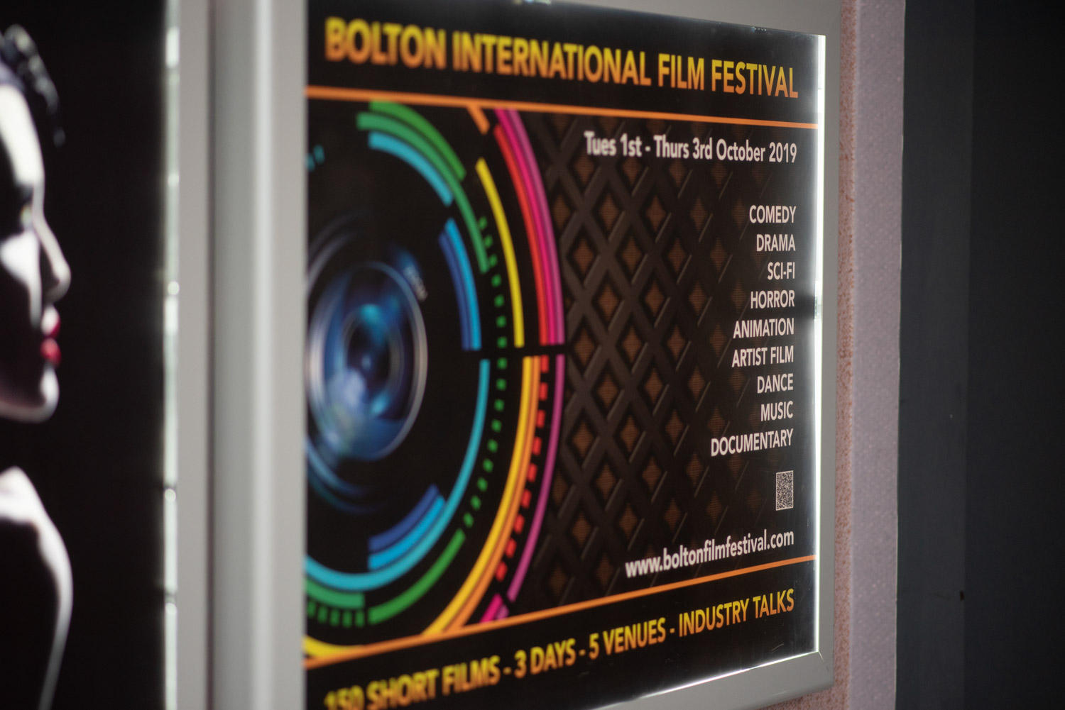 The festival posted on the Light Cinema wall