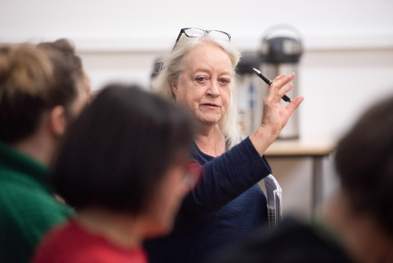 Maggie Ellis (Film London) hosting the Women in Film/TV panel