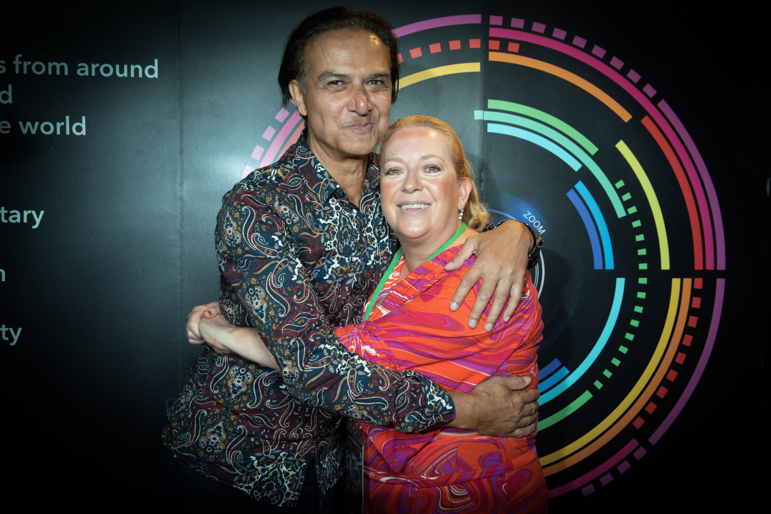 Ian Aspinall and Julie Foy embrace on red carpet at the Bolton Film Festival 2019