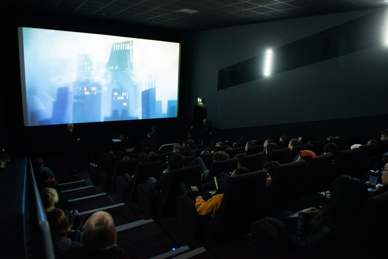Screening of an animated short film at the Light Cinema