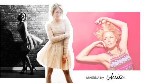 Set of model portfolio images