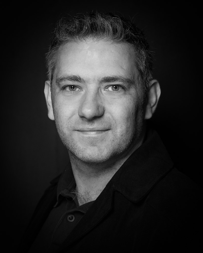 Vincent Bradley black and white Actor Headshot