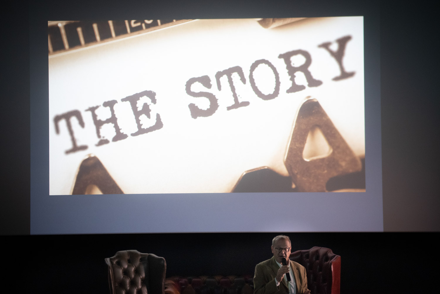 Richard Melman of Spring Films speaking about acquiring compelling documentary stories at his keynote talk