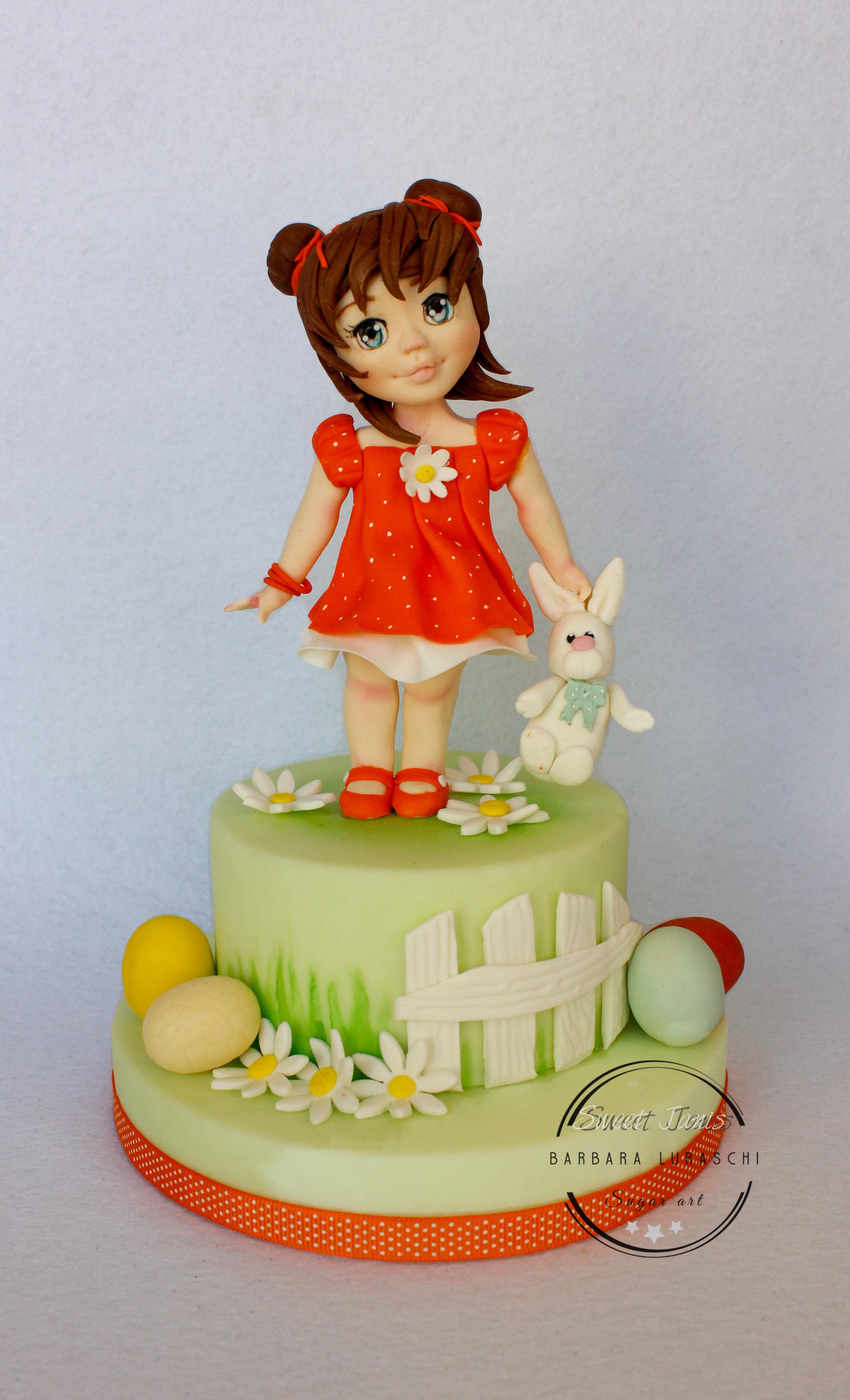 Spring doll cake