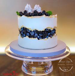 Wild berries fault line cake