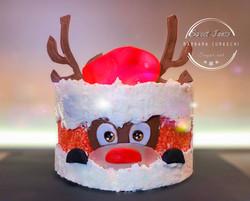 Reindeer fault line cake