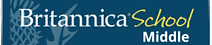 Britannica Middle School Logo and link to encyclopedia