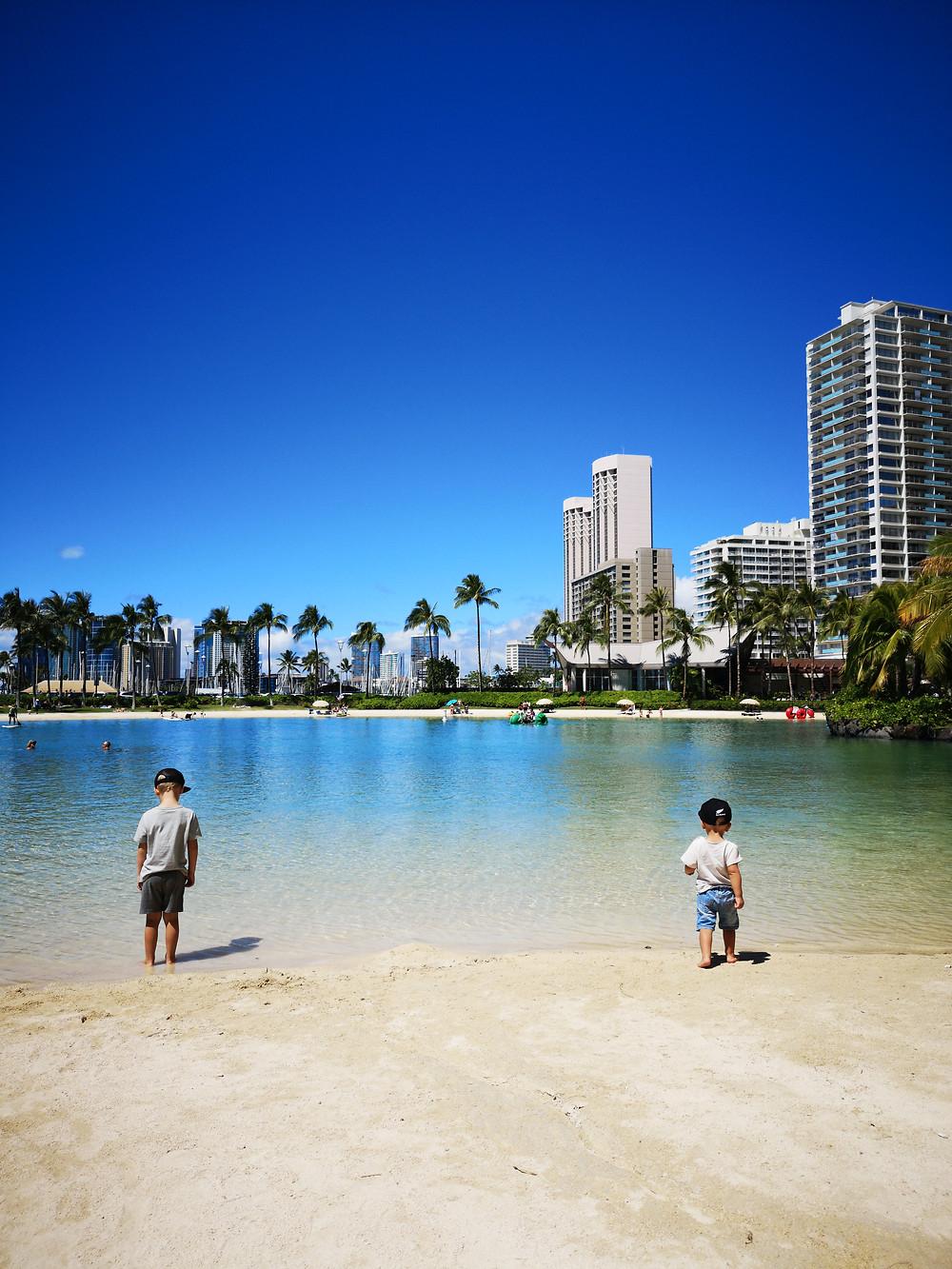 Le lagon artificiel de Waikiki