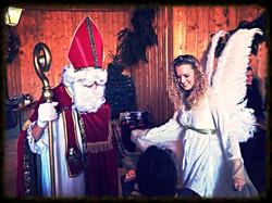 Nikolaus und Engel