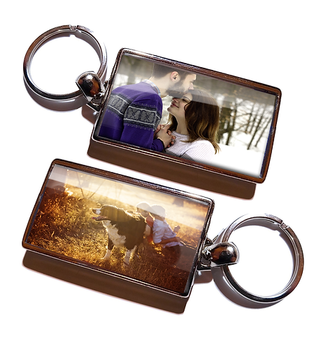 Coolrideplates® Double-sided Photo Personalised Metal Keyring