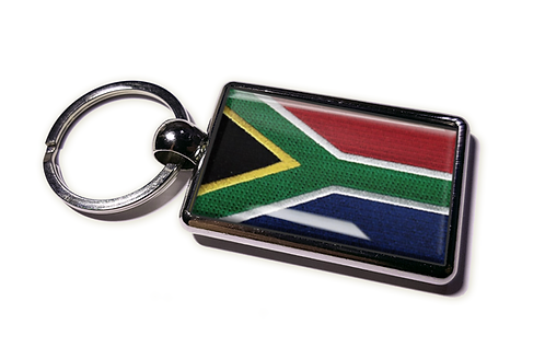 Coolrideplates® Double-sided South Africa Flag Metal Keyring