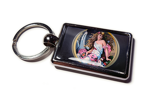 Coolrideplates® Double-sided Unique Vintage Metal Keyring Venus