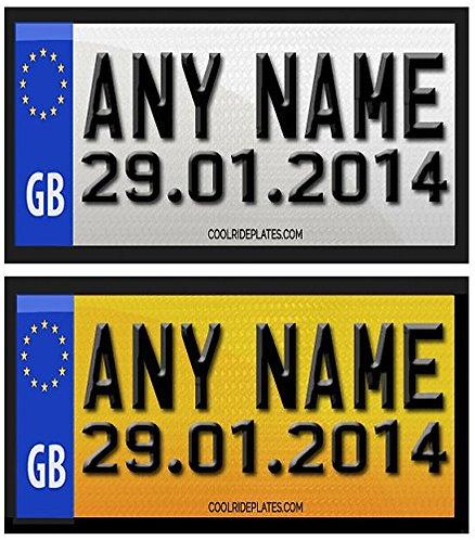 9cm LITTLETIKES & DOB Personalised Number Plate