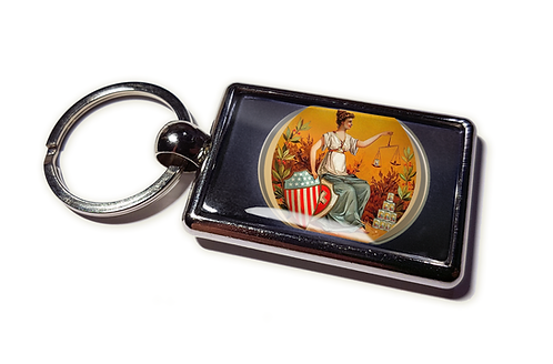 Coolrideplates® Double-sided Unique Vintage Metal Keyring Liberty