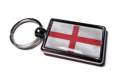 Coolrideplates® Double-sided England Flag Metal Keyring