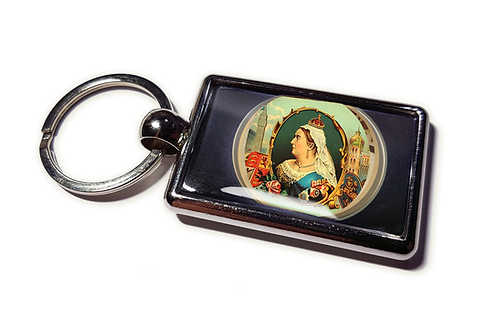 Coolrideplates® Double-sided Unique Vintage Metal Keyring Queen