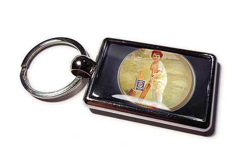 Coolrideplates® Double-sided Unique Vintage Metal Keyring Cricket