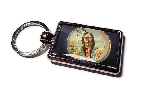 Coolrideplates® Double-sided Unique Vintage Metal Keyring Chief
