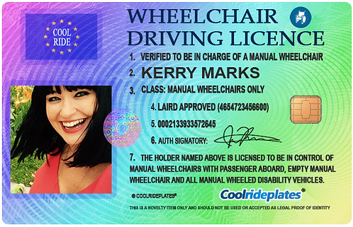 Wheelchair licence