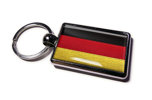 Coolrideplates® Double-sided Germany Flag Metal Keyring