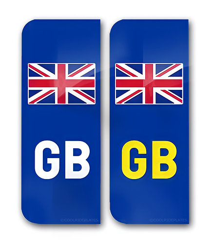 Full sized Number Plate Flag Decal