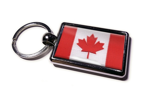 Coolrideplates® Double-sided Canada Flag Metal Keyring
