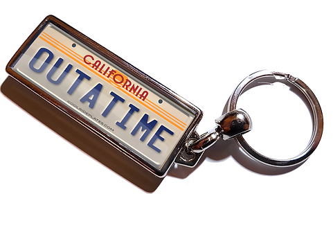 Personalised Back To The Future Style Number Plate Keyring