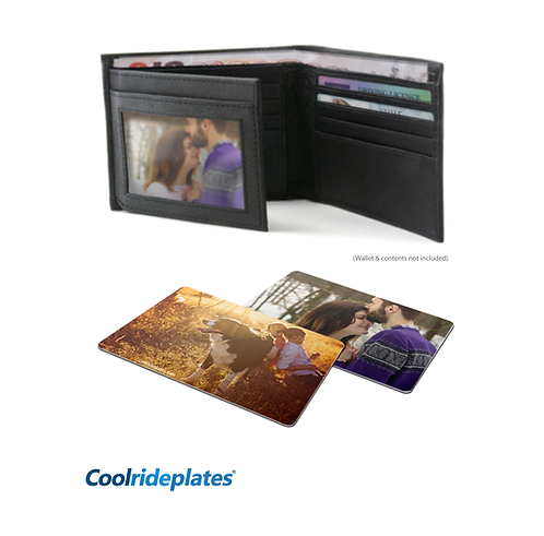 Coolrideplates® Personalised Double-sided Photocard for Purse or Wallet
