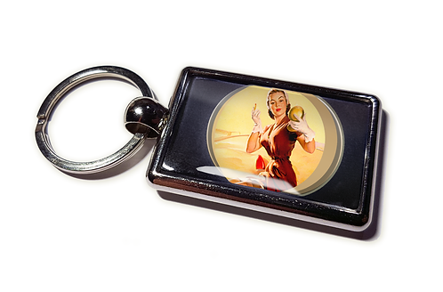 Coolrideplates® Double-sided Unique Vintage Metal Keyring MakeupD