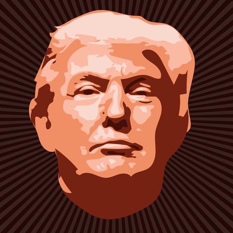 Donald Trump characiture